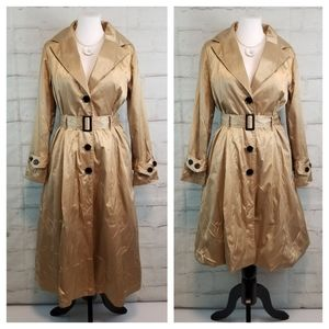 Alanni S Gold Belted Trench Coat Adjustable Length